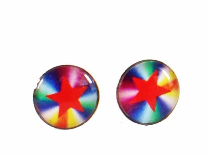 Boucles d\'oreilles clou étoile multicolor 246368