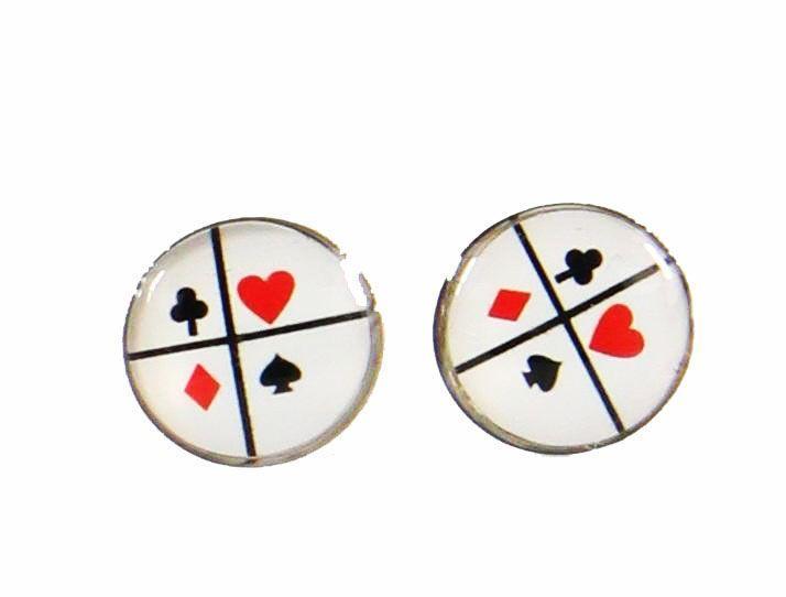 Boucles d\'oreilles clou jeux de cartes 246361