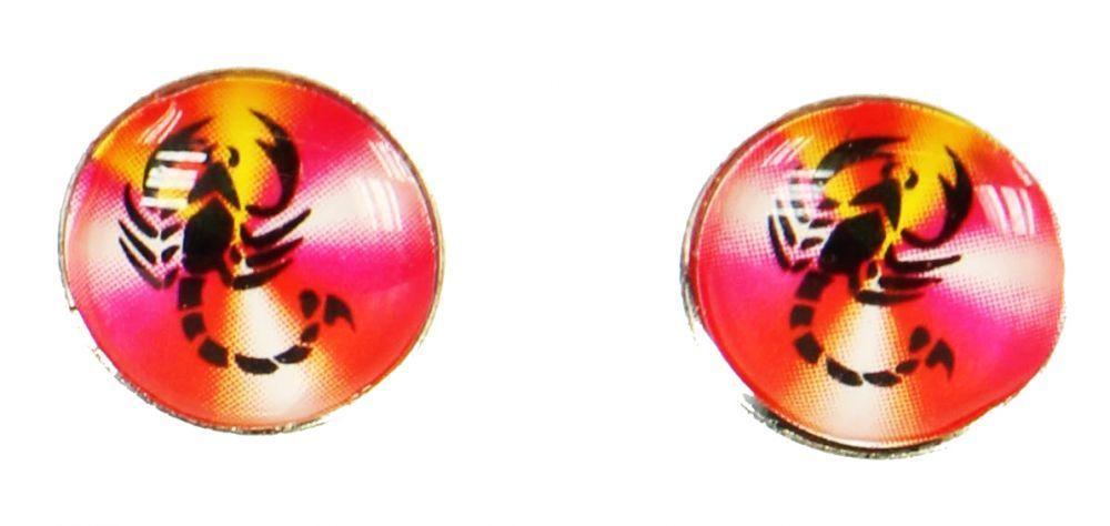 Boucles d\'oreilles clou scorpion rose 249374