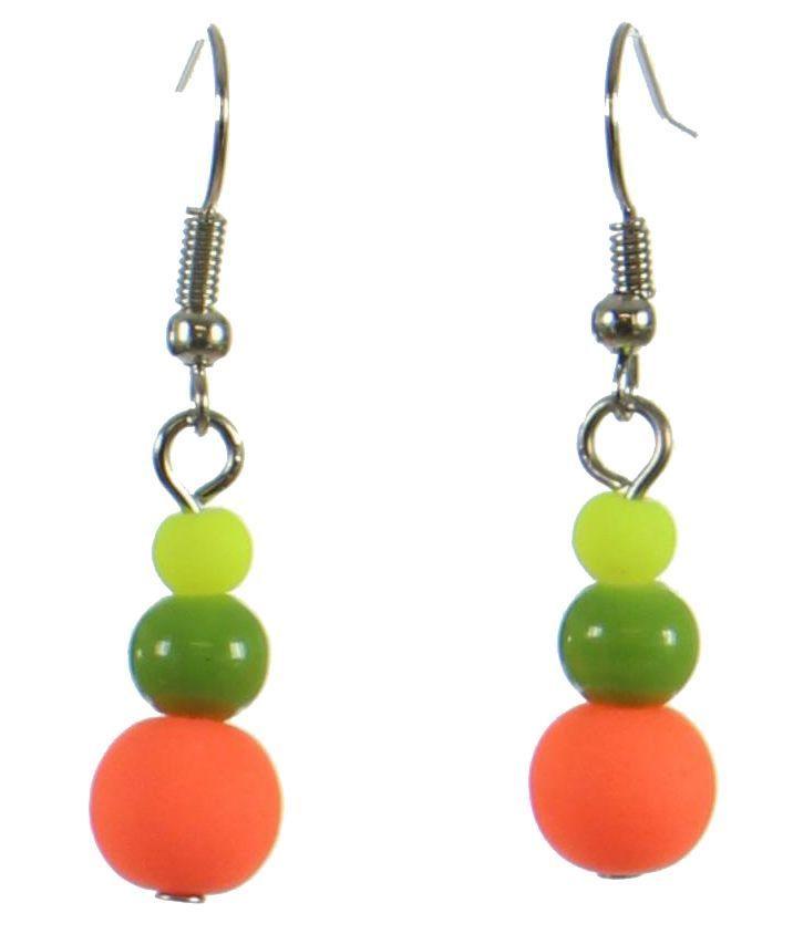 Boucles d\'oreilles multi balls fluo 246979