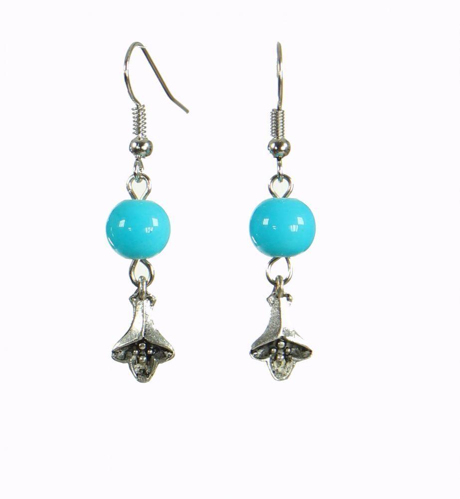 Boucles d\'oreilles originales fleurydou bleue 249915