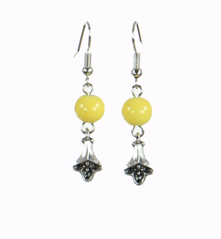 Boucles d\'oreilles originales fleurydou jaune 249918