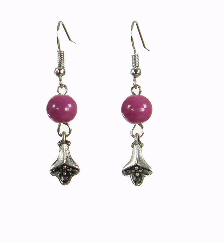 Boucles d\'oreilles originales fleurydou violette 249921