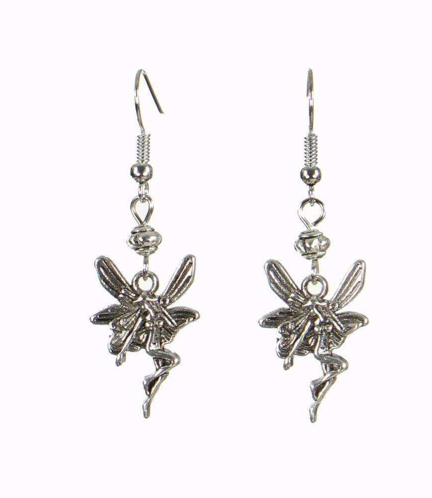 Boucles d'oreilles pendantes motif fée bella 249848