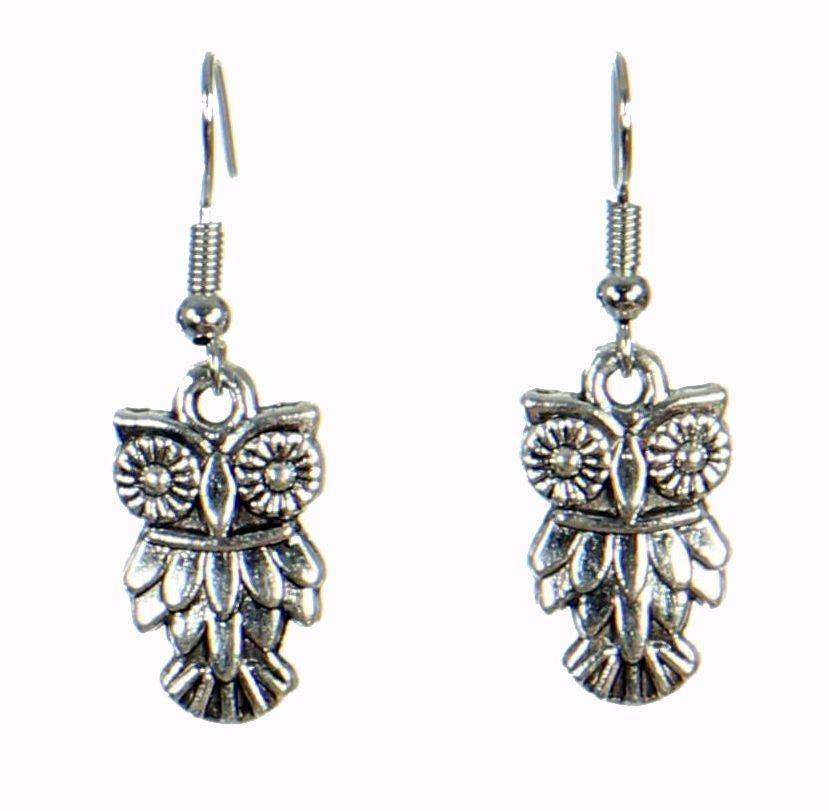 Boucles d'oreilles pendentif hibou 249813