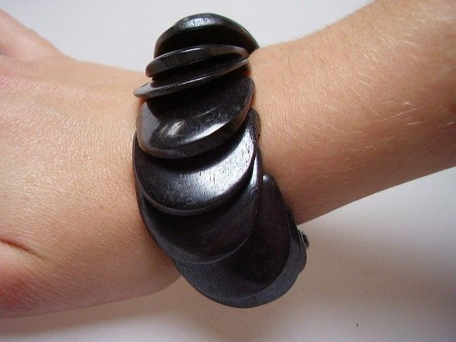Bracelet écaille noir 252959