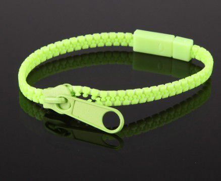 Bracelet fermeture éclair vert 244706