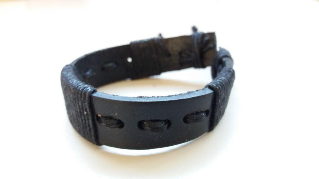 Bracelet mixte en cuir et cordon ciré forcing noir 303399