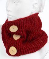 Cache col en pure laine douce du Népal rouge 249477