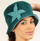 Chapeau d'hiver aspect Velours Ethnique et Chic Théo Bleu 277291