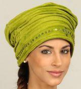 Chapeau d'Hiver esprit Turban Ethnique et Coloré Dehli Anis 277294