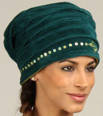 Chapeau d'Hiver esprit Turban Ethnique et Coloré Dehli Bleu 277297