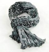 Chèche foulard imprimé leopard gris en coton 245017