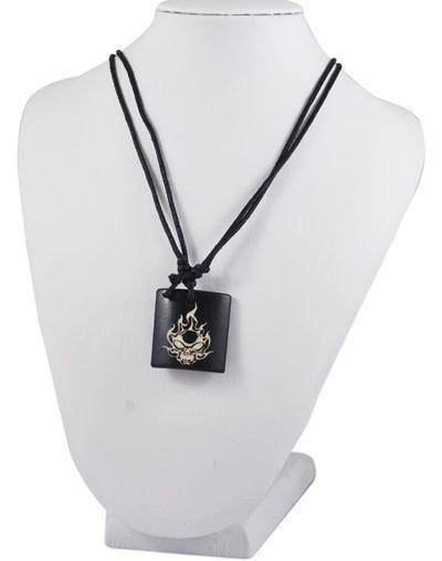 Collier avec pendentif en résine imitation os logo ghost rider 2 256211