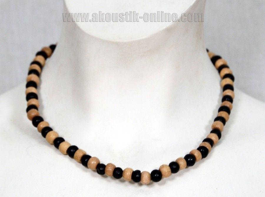 Collier de perles en bois ethnique 253392