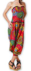 Combi-Sarouel pour femme d'été Ethnique et Coloré Any Rouge 276668