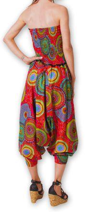 Combi-Sarouel pour femme d'été Ethnique et Coloré Any Rouge 276670