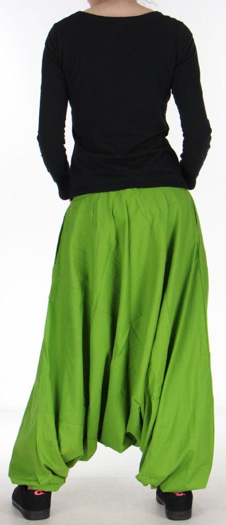 Confortable Sarouel ethnique et baba cool  Vert olive  Osei 272361