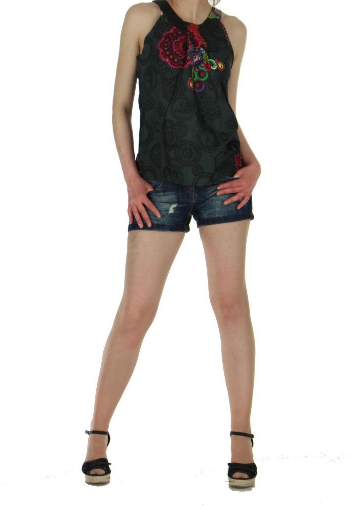 Débardeur femme original daisy noir 260930