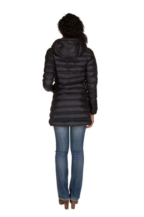 Doudoune longue femme Noire chic et tendance Lise 301628