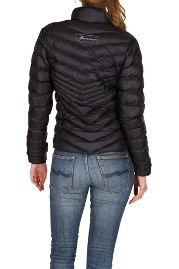 Doudoune pas cher femme Noire avec capuche et poches Cem 301590