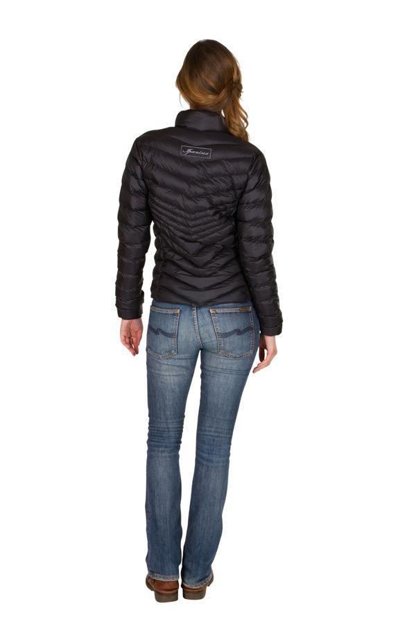 Doudoune pas cher femme Noire avec capuche et poches Cem 301591