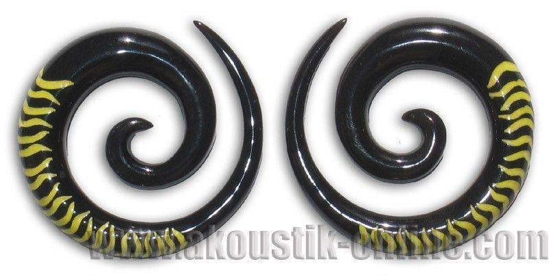 Ecarteur corne spirale zébré jaune 238946