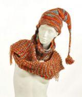 Echarpe à capuche lutin avec col en laine doublé polaire n°14 244042