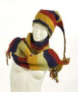 Echarpe � capuche lutin avec col en laine doubl� polaire n�16 244044
