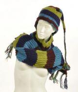 Echarpe � capuche lutin avec col en laine doubl� polaire n�17 244045