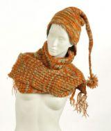 Echarpe � capuche lutin avec col en laine doubl� polaire n�18 244046