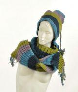 Echarpe à capuche lutin avec col en laine doublé polaire n°19 244856