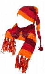 Echarpe � capuche lutin avec col en laine doubl� polaire n�26 240897