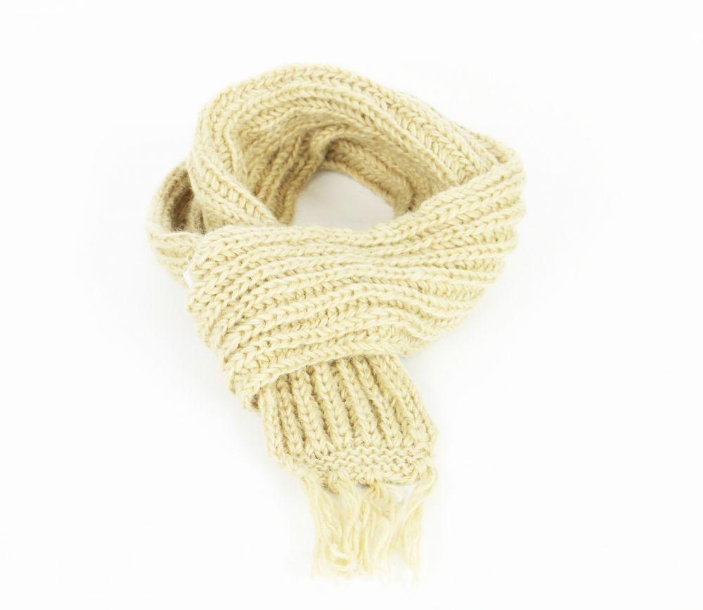 Echarpe en laine du Népal beige mitoy 247791