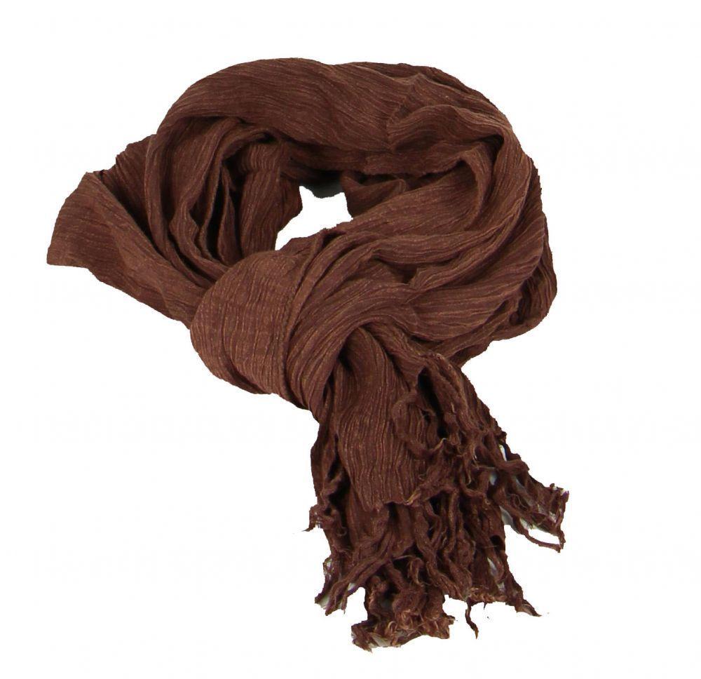 Foulard ethnique pouch chiné marron et noir 246360