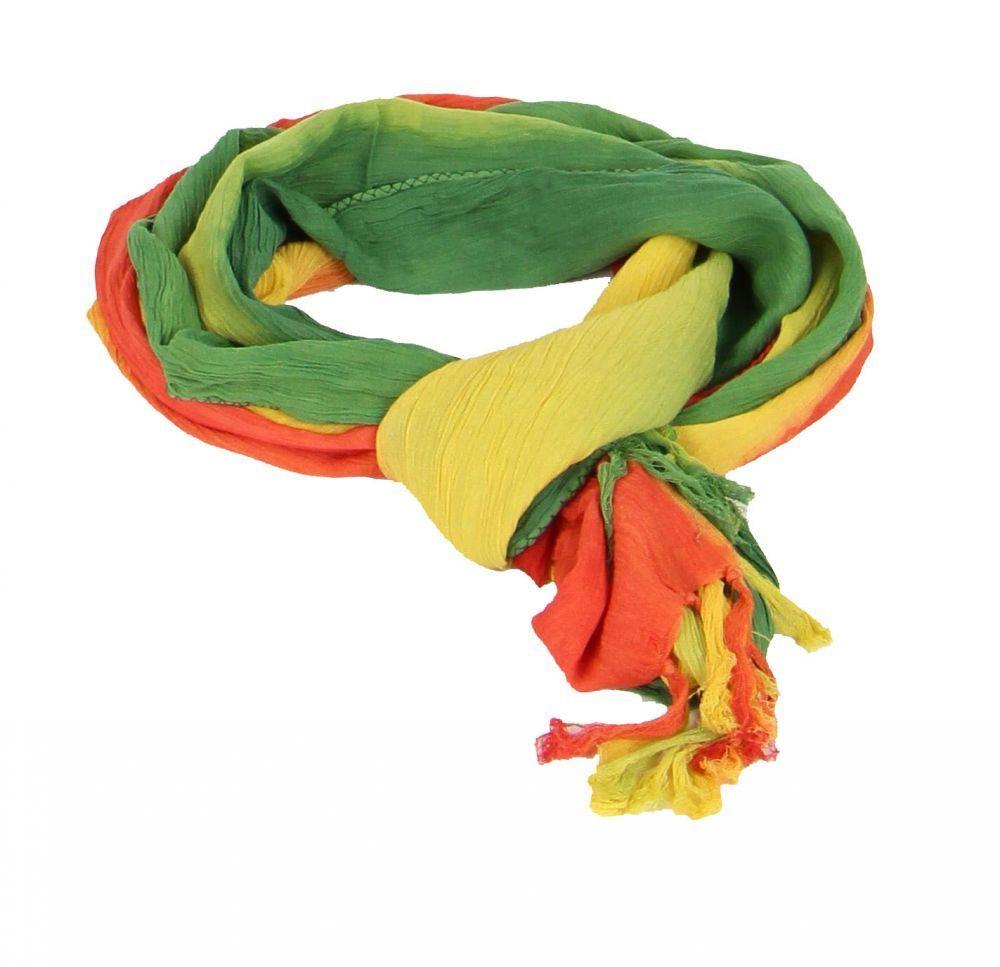 Foulard vert jaune rouge 246217