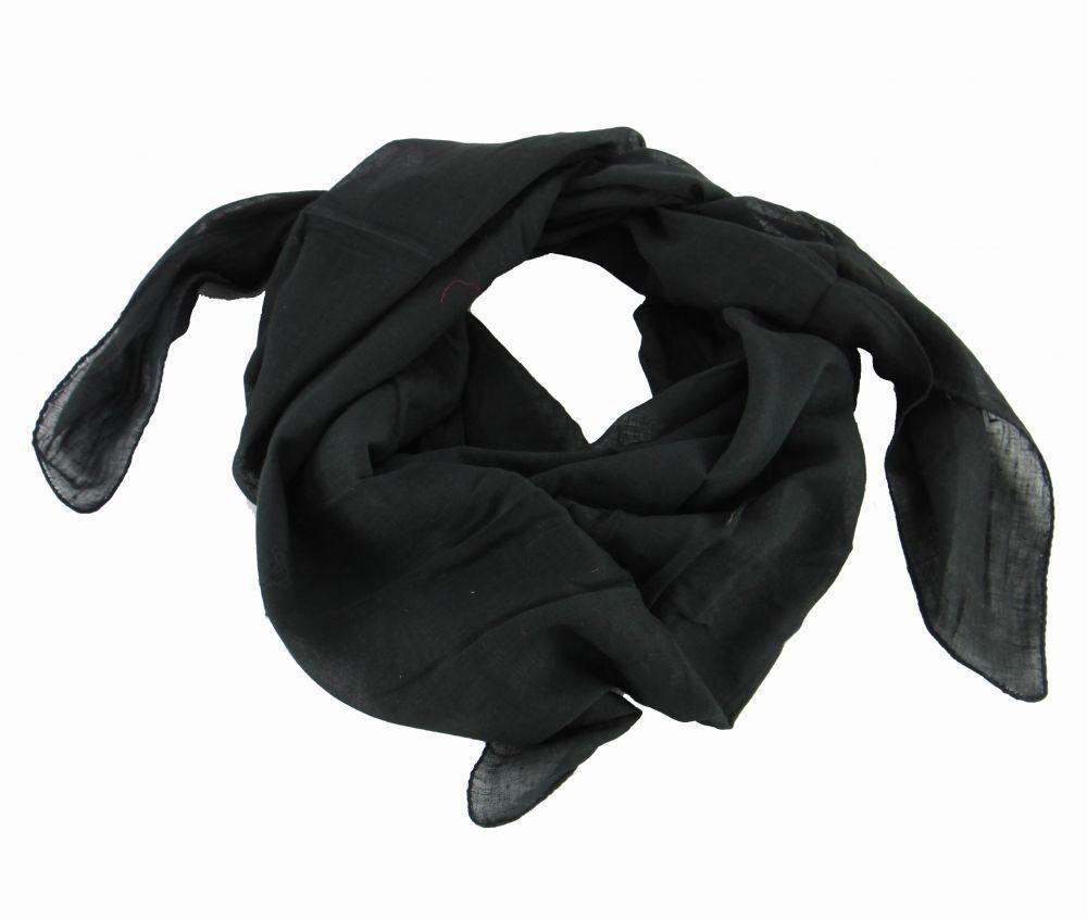 foulard winlow en coton noir n°7 248515