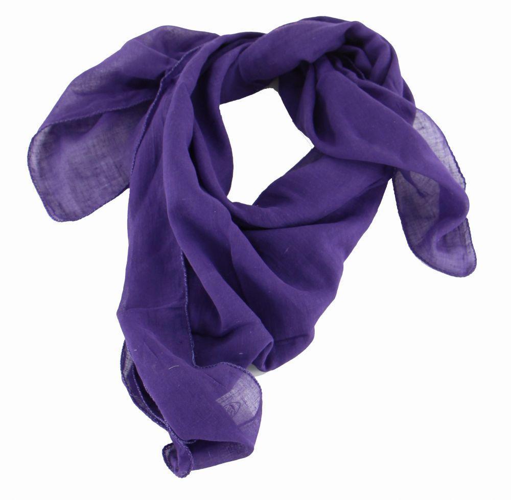 foulard winlow en coton violet n°6 248513