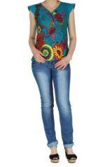 Haut turquoise d'été coloré Haley 267617