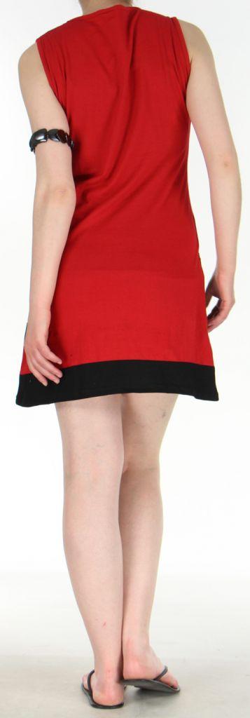 Jolie et Agréable robe courte d'été ethnique   Rouge  Lara 272748
