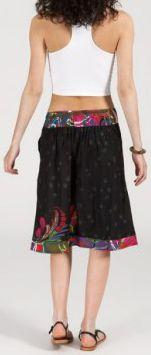 Jolie Jupe mi-longue ethnique et colorée -noire - Stella 271871