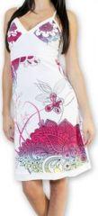 Jolie robe courte d'�t� tendance et color�e Blanche Carlla 273320