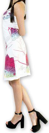 Jolie robe courte d'été tendance et colorée Blanche Carlla 273323
