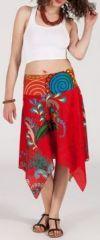 Jupe asym�trique originale et pas ch�re - rouge - Nahema 271862