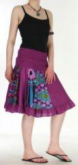 Jupe courte et légère d'été transformable 2en1 Violette Volante 272550