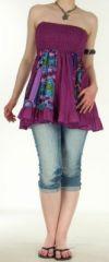 Jupe courte et légère d'été transformable 2en1 Violette Volante 272551