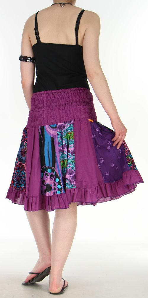Jupe courte et légère d'été transformable 2en1 Violette Volante 272552