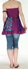 Jupe courte et légère d'été transformable 2en1 Violette Volante 272553