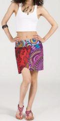 Jupe courte imprimée ethnique pas chère pour l'été Isabeli 5 271644