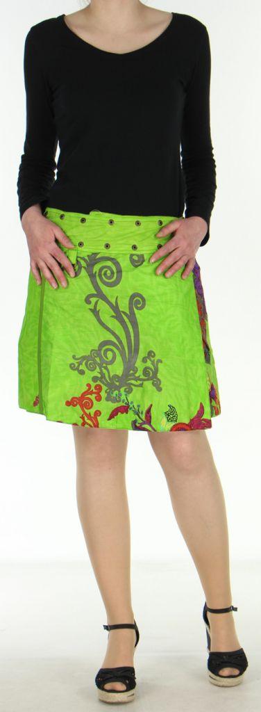 Jupe courte originale réversible avec poche amovible Anis Kala 272706